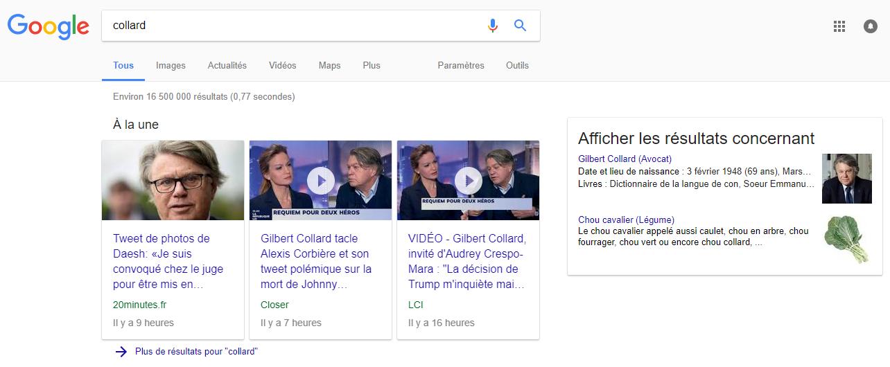 Gilbert Collard porte plainte contre Google