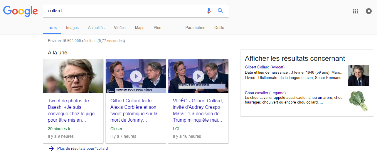 Gilbert Collard porte plainte contre Google