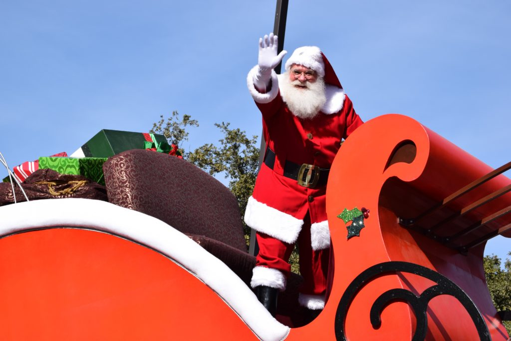 Père Noel sur son traîneau