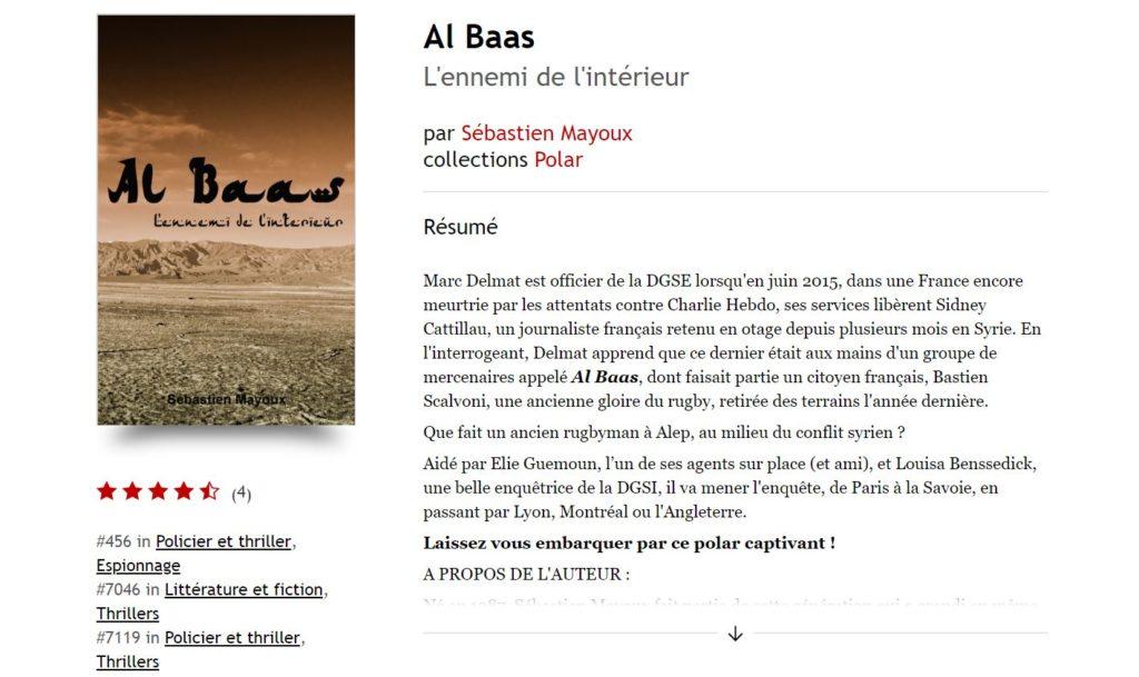 Al Baas : l'ennemi de l'intérieur est un nouveau polar
