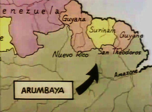 Carte du San Theodoros et ses pays voisins