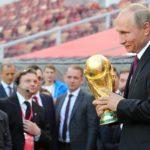 Vladimir Poutine, à la cérémonie d'ouverture de la Coupe du Monde de Football en Russie