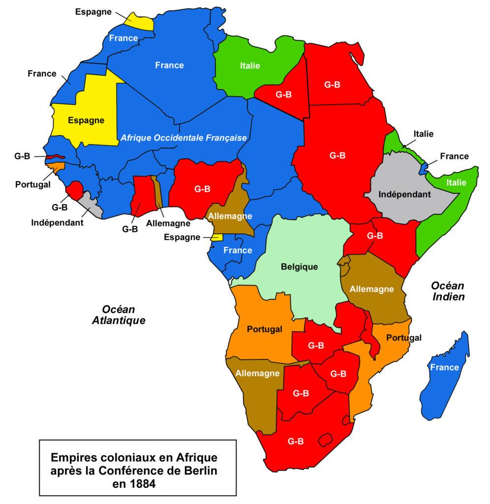 Carte de l'Afrique en 1884