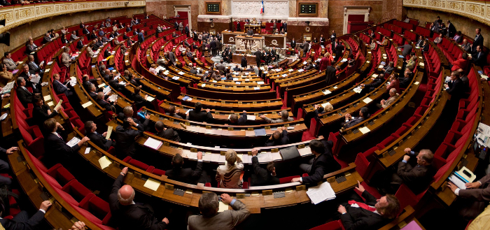 Hémicycle de l'Assemblée Nationale pendant le vote de l'interdiction du glyphosate