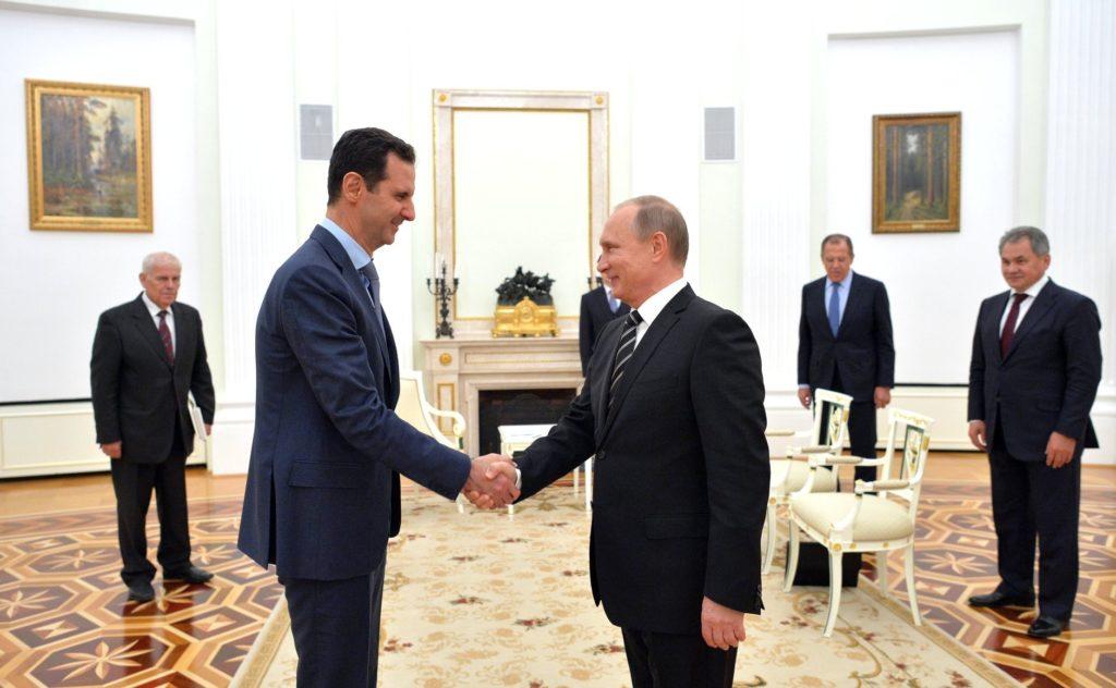 Rencontre entre Bachar El-Assad et Vladimir Poutine