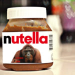 Pot de Nutella avec photo d'un orang outan