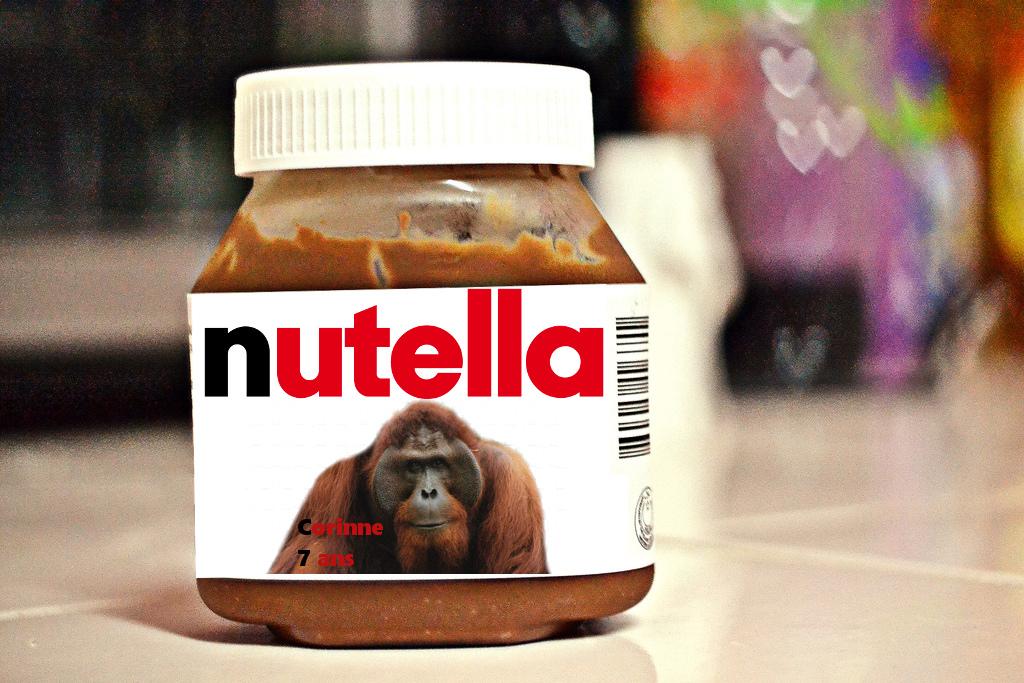 Huile de palme : Nutella va rendre hommage aux orang-outans en mettant leur photos sur ses pots