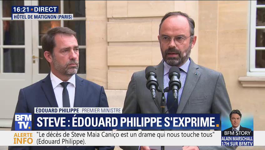 Edouard Philippe et Christophe Castaner annonce les conclusions de l'IGPN sur la mort de Steve Maia Caniço