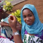Habitante musulmans de Mayotte portant le voile