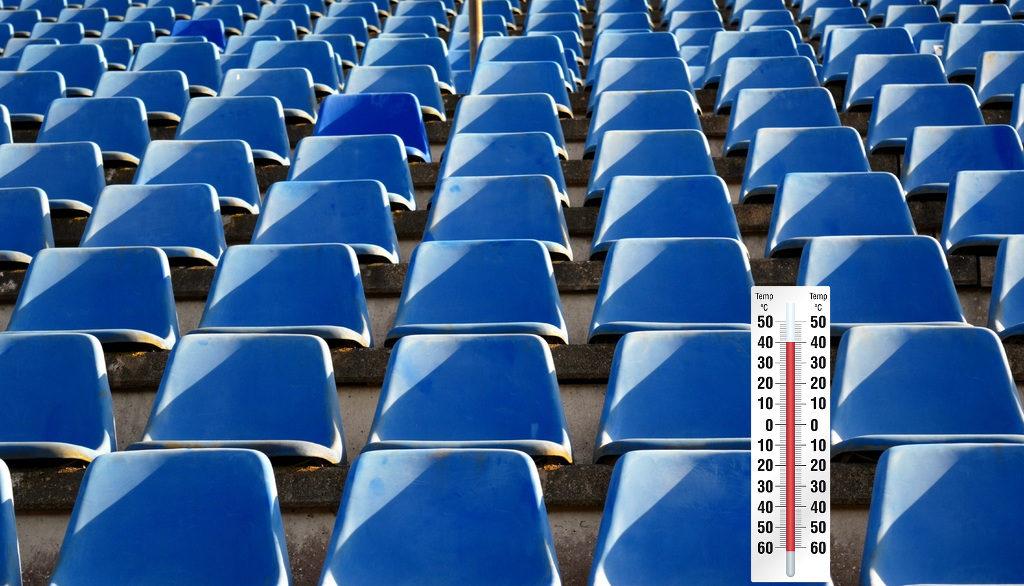 En raison de la chaleur, les tribunes des Championnats du Monde d'Athlétisme de Doha (Qatar) se déroulent avec des tribunes vides