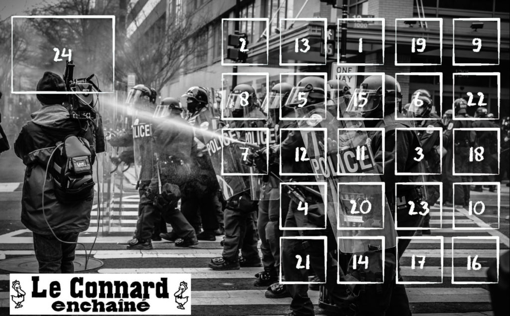 calendrier de l'avent du Connard Enchaîné