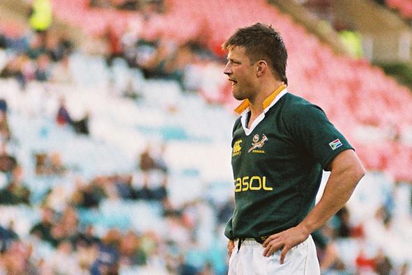 Bobby Skinstad, joueur de rugby blanc d'Afrique du Sud
