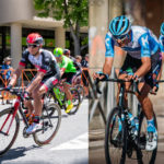Les équipes Team Emirates et Israel Start Up Nation sur le Tour de France