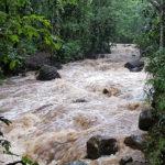 Les crues dans la vallée de la Roya provoque un glissement de terrain