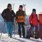Photos de 3 skieurs Savoyards traversant la frontière suisse pour skier