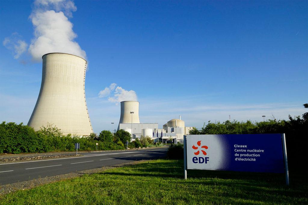Centrale nucléaire EDF de Civaux, près de Poitiers (Vienne)
