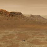 Robot Perserverance en train s'explorer la planète Mars