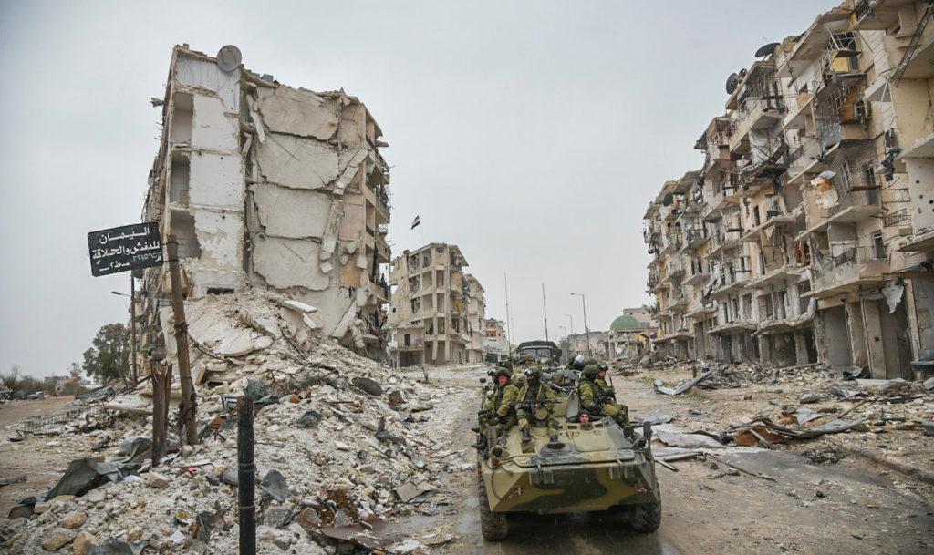 Bataille d'Alep en Syrie